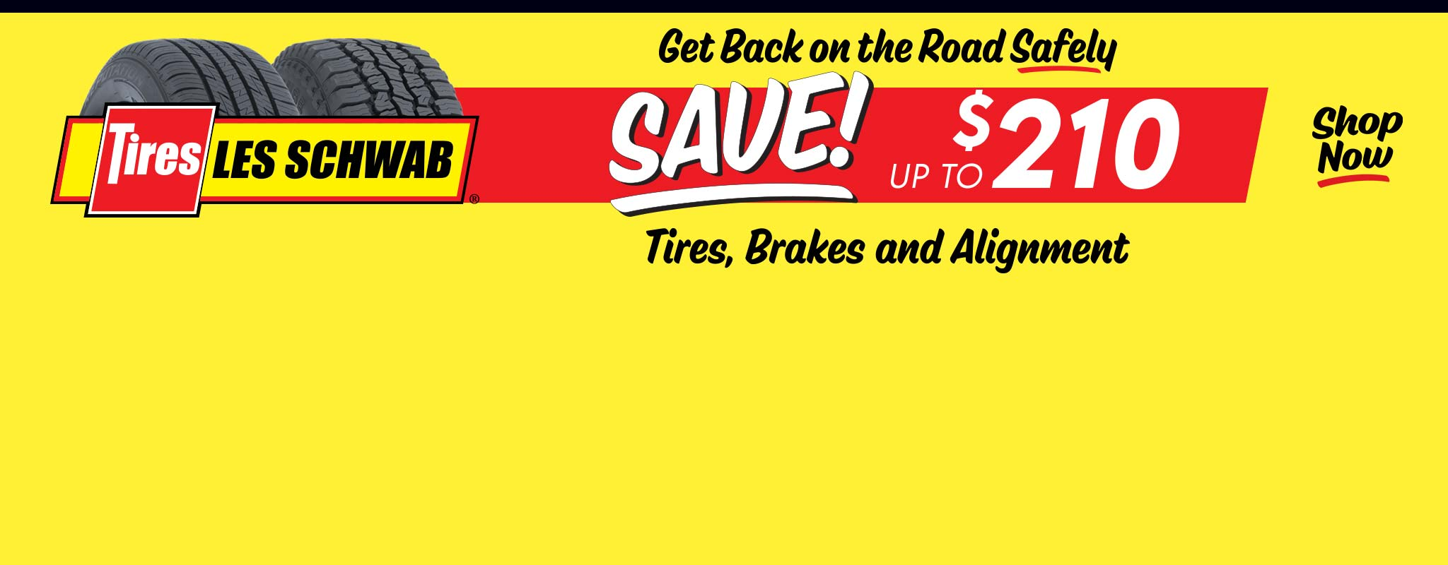 Two tires over a red and yellow background