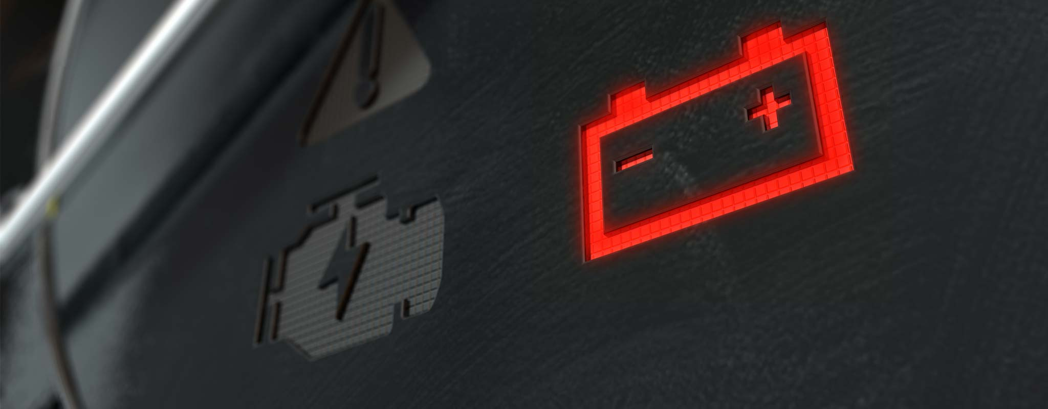 Car dash battery light