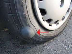 tire with bulge