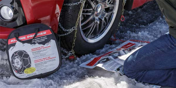 How To Put On Snow Chains And Drive Safely