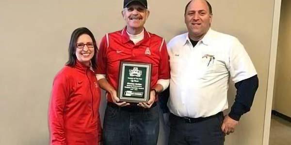 An Antelope high school teacher is presented with the 2016 Les Schwab Tireless Teacher Award.