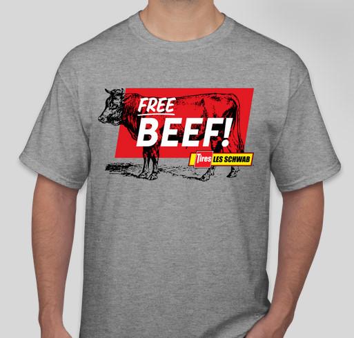 Les Schwab Free Beef grey T-shirt