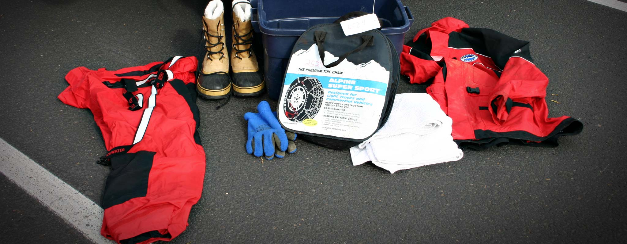 Winter safety kit example.