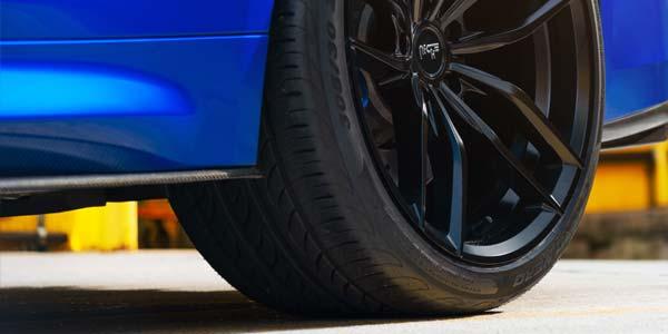 Pirelli run-flat tire on a Niche wheel.