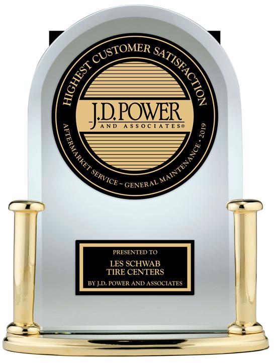 J.D. Power Award for #1 in Aftermarket General Maintenance