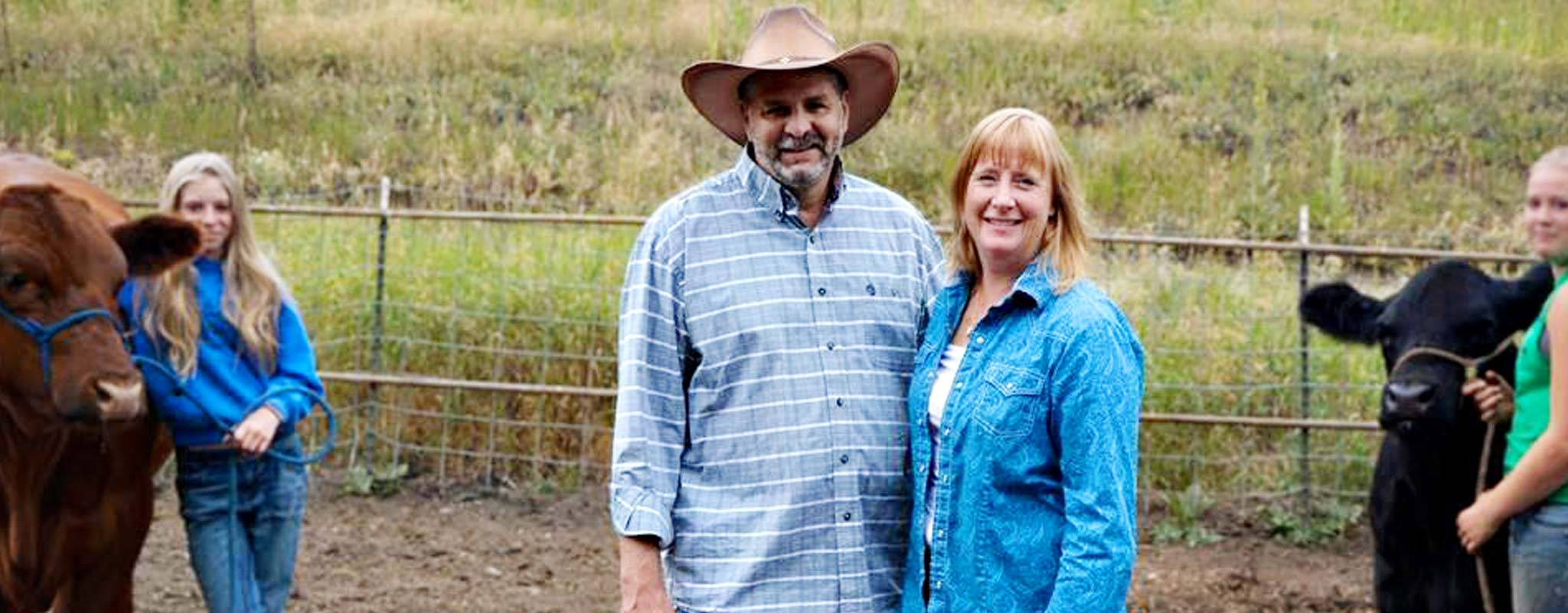 Jeff and Donna Wiechman at a 4-H event.