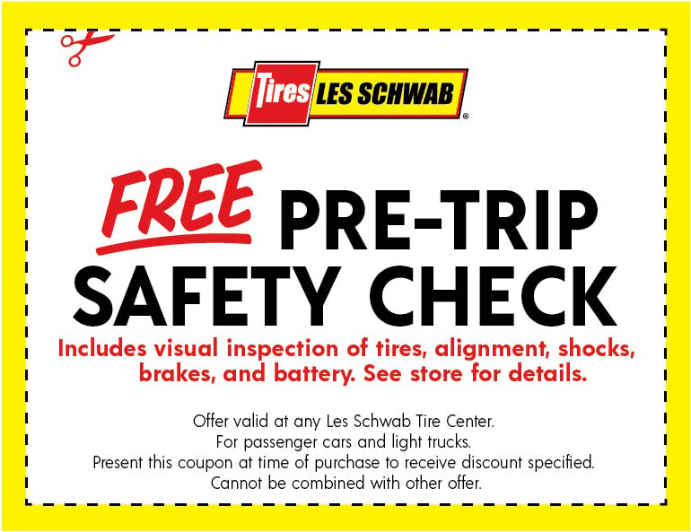 Pre-Trip Safety Check Coupon