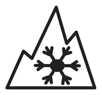 3-Peak Mountain Snowflake Icon