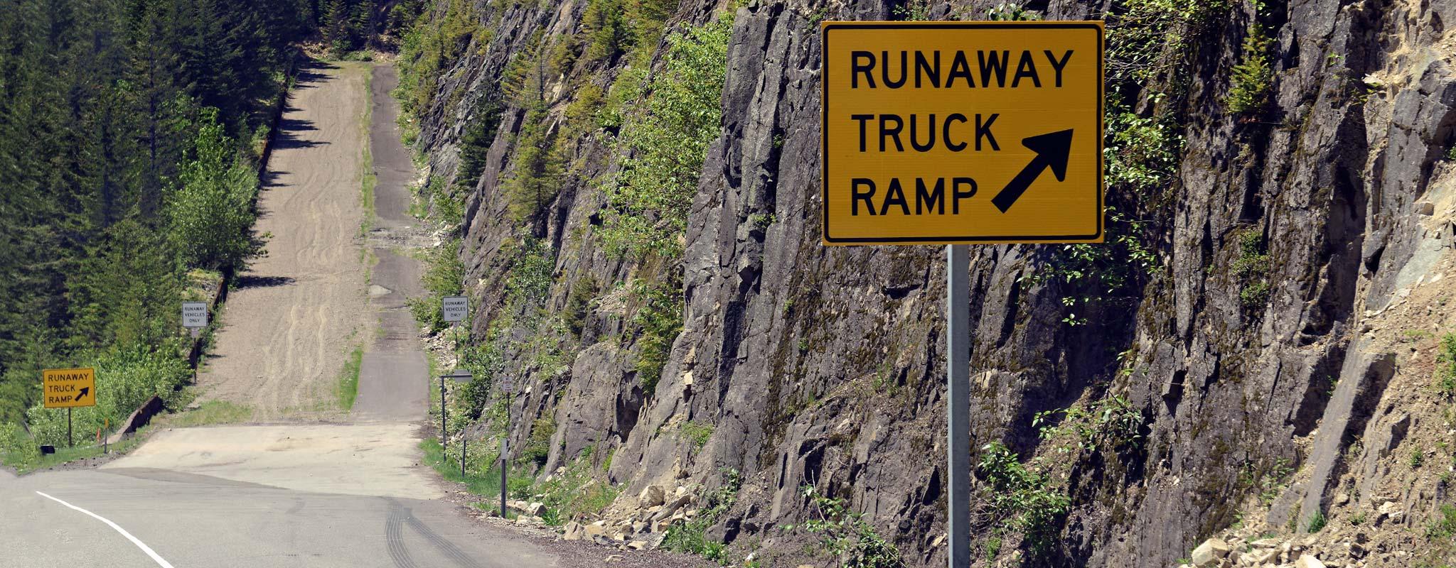 Runaway truck ramp.