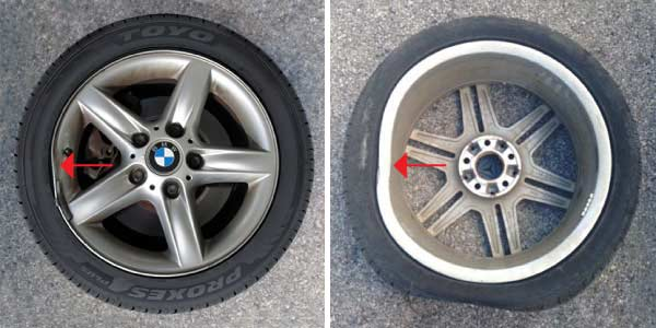 Wheel damage from potholes
