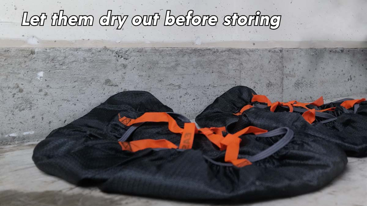 Let them dry out before storing