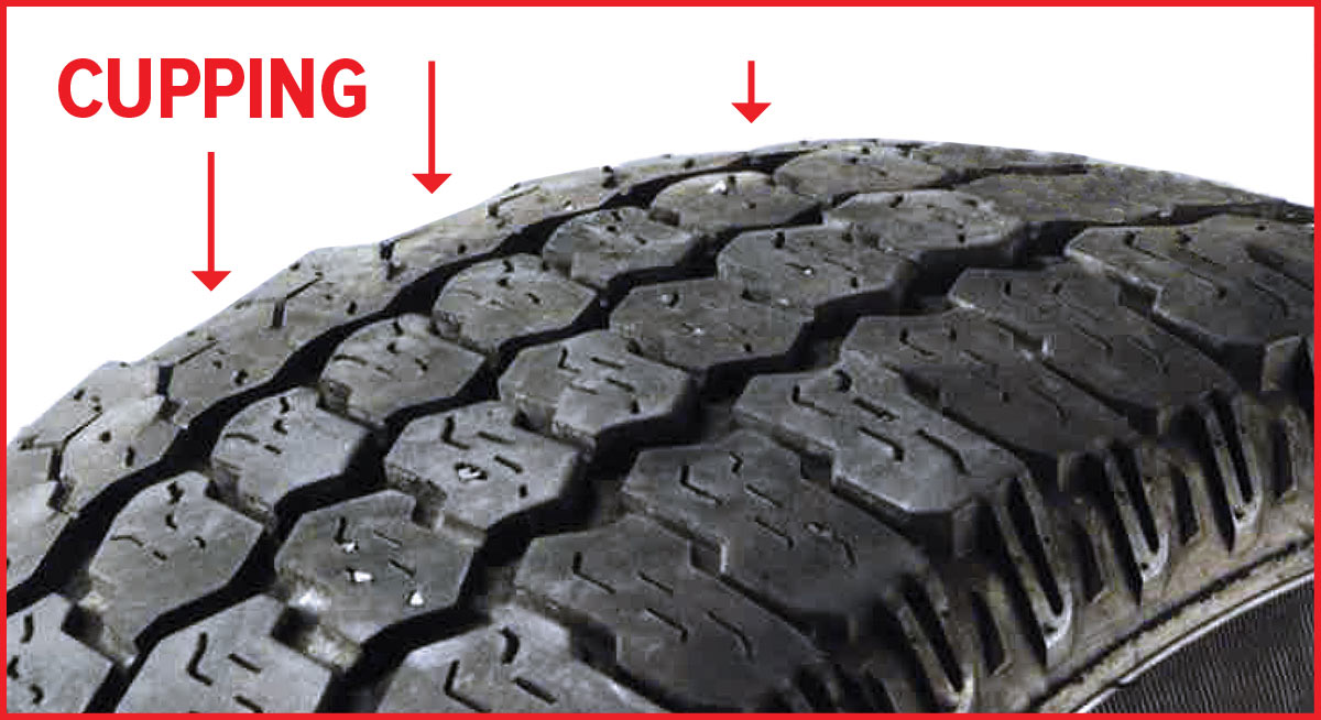 Tire with cupping.