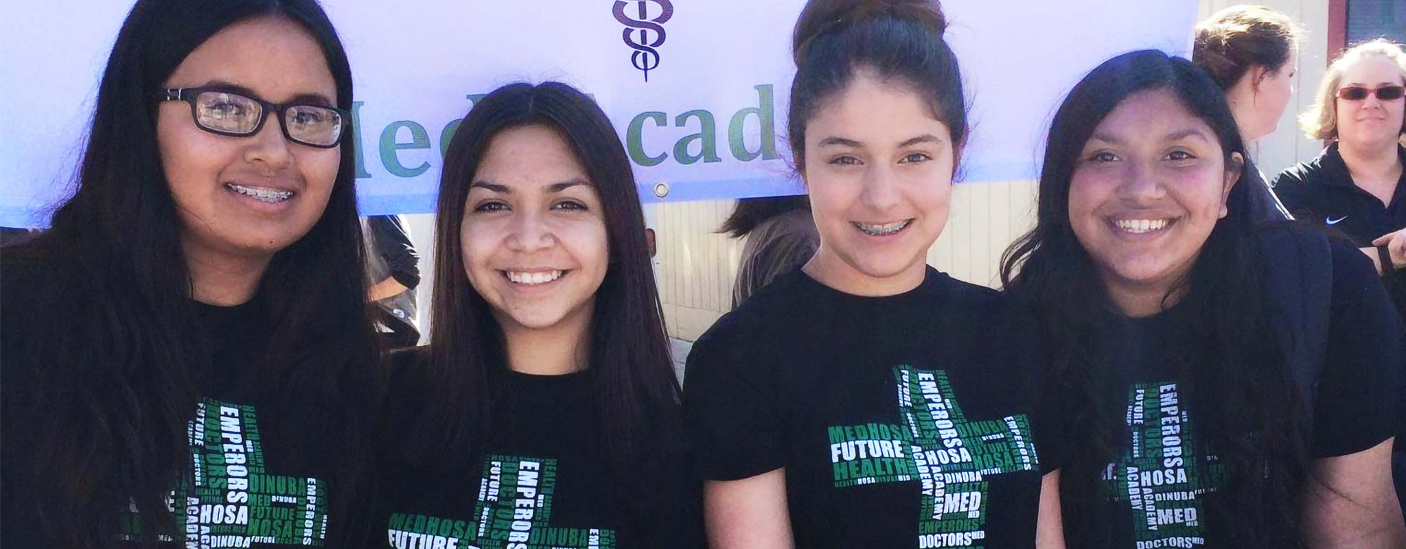 Four students from Dinuba High's Linked Learning Program.