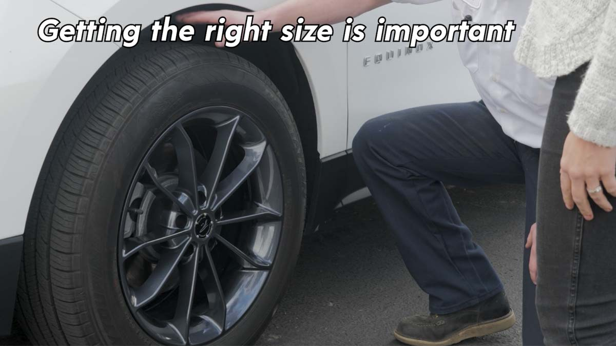 Getting the right tire sock size is important