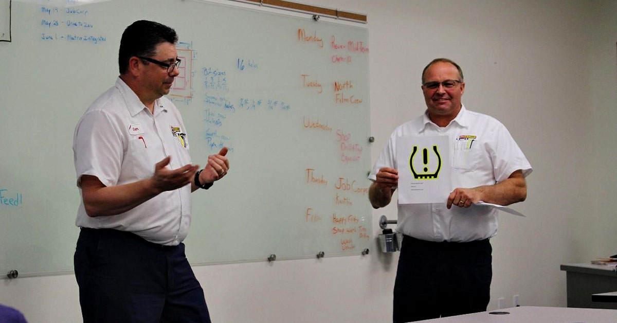 Cam Durrell and Howard Magden explain tire pressure monitoring system lights