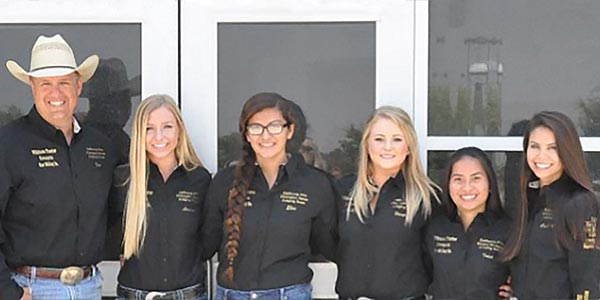 Several members of the California chapter of Future Farmers of America pose together.