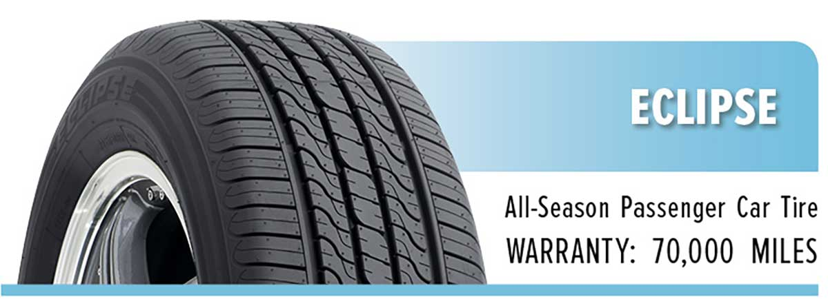 Eclipse tire with 70,000 mile warranty