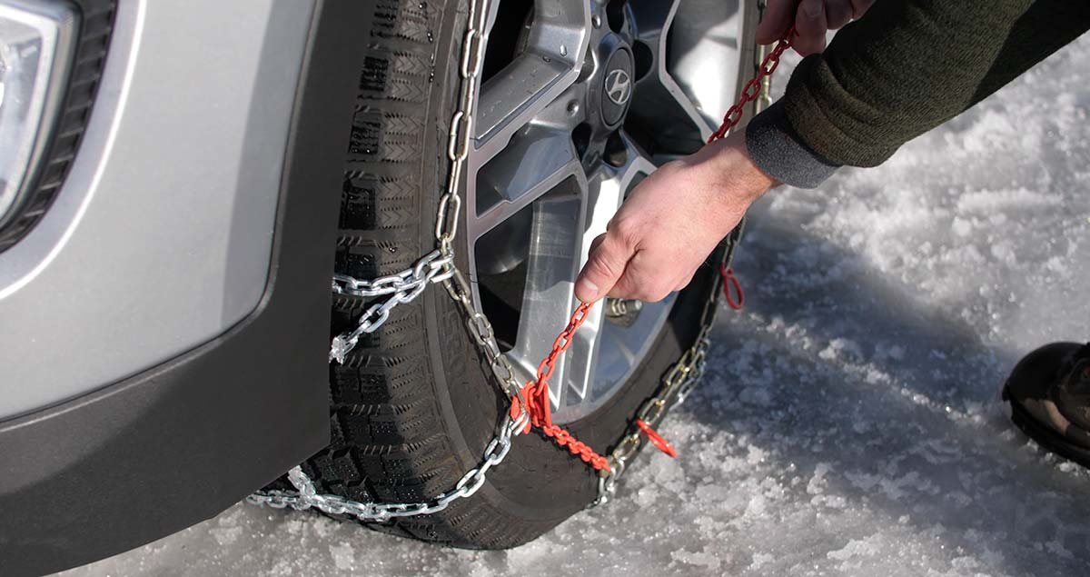 retightening chain aon tire.