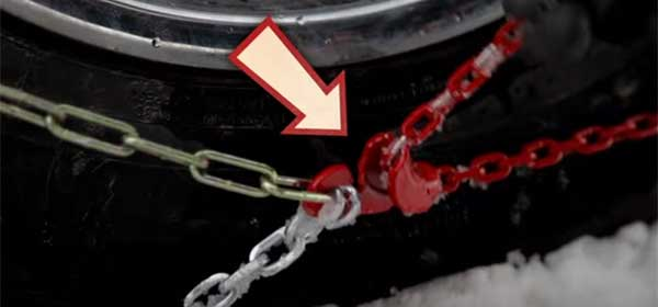 Step 8 - Pull red draw chain and fastener taut