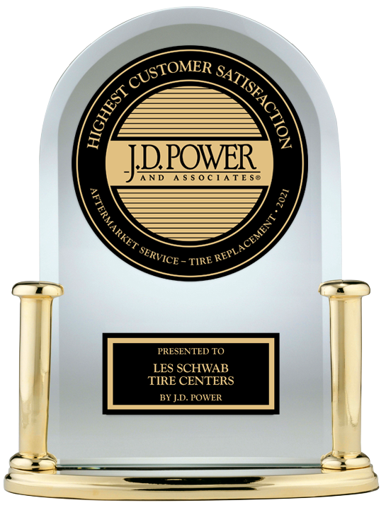 J.D. Power Award for #1 in Customer Satisfaction for Aftermarket Tire Replacement