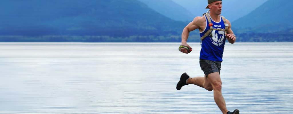 Les Schwab employee TJ Burleson training for the Lumberjack Ultra Marathon.