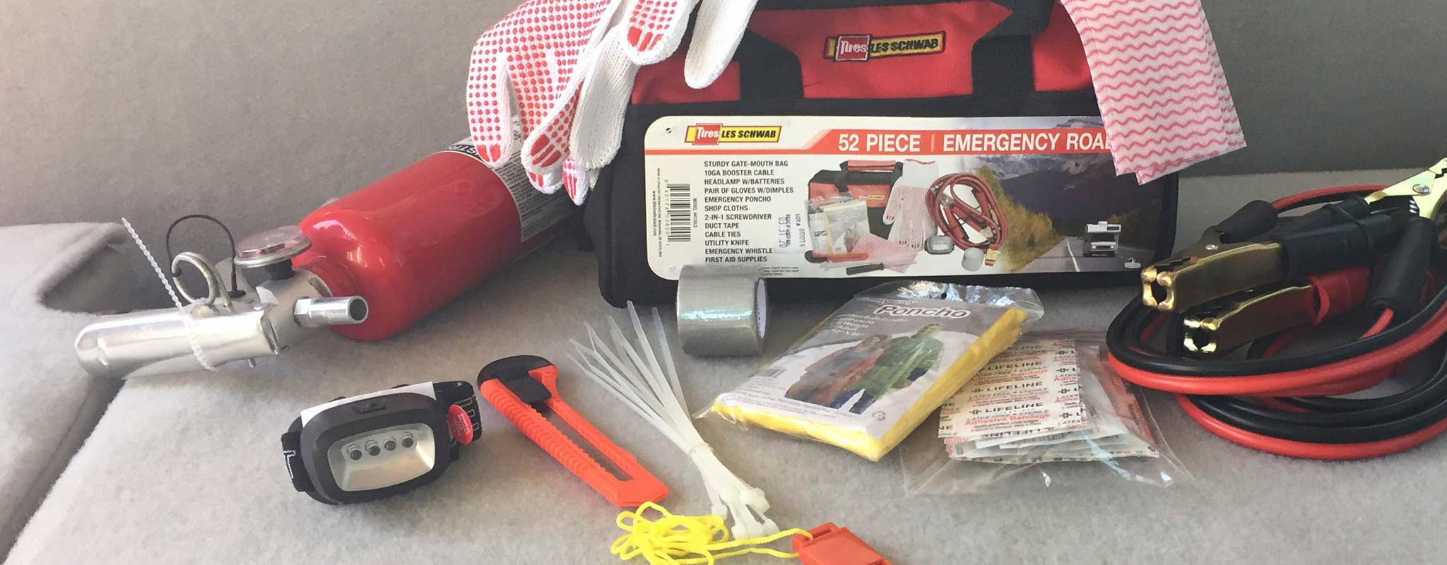 Be a Hero with a Summer Road Trip Safety Kit - Les Schwab