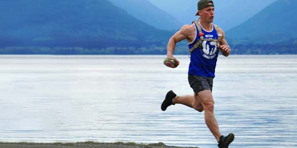 Les Schwab employee TJ Burleson training for the Lumberjack Ultra Marathon.