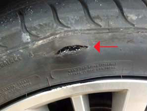 Tire damage from potholes